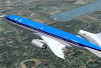 Screenshot of KLM Lockheed L1011 Tristar in flight.