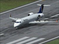 Screenshot of Kendell Airlines CRJ200 on runway.