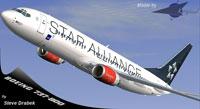 Screenshot of Kittyhawk Star Alliance 737-800 in flight.