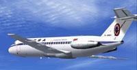 Screenshot of LACSA Costa Rica BAC 1-11 200 in flight.