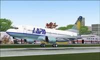 Screenshot of Lapa Lineas Aereas Boeing 737-700 taking off.