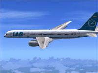 Screenshot of Lloyd Aereo Boliviano Boeing 757-200 in flight.