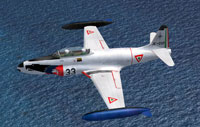 Screenshot of Lockheed T-33A in flight.