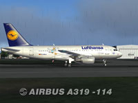 Screenshot of Lufthansa Airbus A319-114 on the ground.