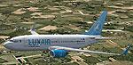 Screenshot of Luxair Boeing 737-700 in flight.