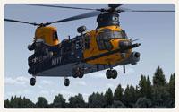 Screenshot of MH-47G Chinook taking off.