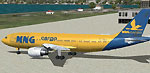 Screenshot of MNG Cargo Airbus A300 on the ground.