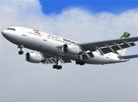 Screenshot of Mahan Air Airbus A300B4-200 in flight.