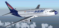 Screenshot of Malev Boeing 737-200 in flight.