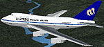 Screenshot of Mandarin Airlines Boeing 747SP-09 in flight.