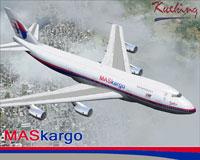 Screenshot of Maskargo Boeing 747-200SF in flight.