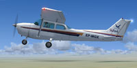 Screenshot of Cessna 172 EP-MGX in flight.