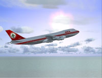 Screenshot of Middle East Airlines Boeing 747-2B4B in flight.