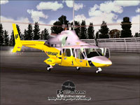 Screenshot of Northeast Airlines City Hopper Bell 430 on the ground.