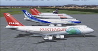 Screenshot of Northwest Cargo Boeing 747-200F.