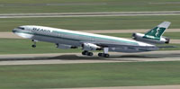 Screenshot of Ozark Douglas DC-10-10 taking off.