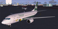 Screenshot of PIA Boeing 737-300 on the ground.