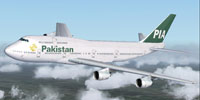 Screenshot of PIA Boeing 747-300 in flight.