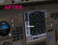 Screenshot of Boeing 757 improved virtual cockpit.