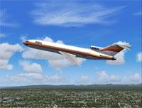 Screenshot of PSA Boeing 727-200 in flight.
