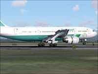 Screenshot of Pakistan International Airbus A300 on runway.