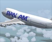 Screenshot of Pan Am 'China Clipper II' 747-212B in flight.