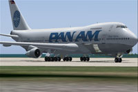 Screenshot of Pan Am Boeing 747-200F on the ground.