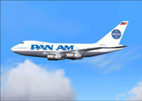 Screenshot of Pan Am Boeing 747 SP in flight.