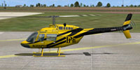 Screenshot of Petroleum Helicopters Bell 206B on the ground.