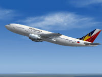 Screenshot of Philippine Airlines A300B4-200 in flight.