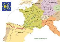 'Pilgrimage To Santiago De Compostella' pilot map.