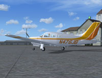 Screenshot of Piper Arrow III Turbo N476JB on the ground.