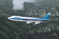 Screenshot of Boeing 747 in flight.