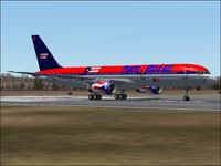 Screenshot of Puerto Rico Air Boeing 757-200 on runway.