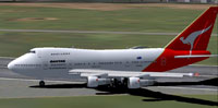 Screenshot of Qantas Boeing 747SP taxiing to runway.