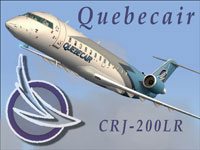 Cover image showing Quebecair CRJ-200LR in flight.