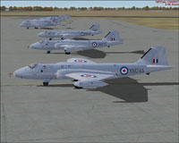 Screenshot of Canberra B2 40 Squadron on the ground.