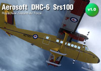 Screenshot of RNZAF DHC-6 Srs100 in flight.