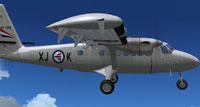 Screenshot of RNoAF DHC-6 Srs100 in flight.