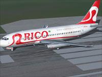 Screenshot of Rico Boeing 737-200 on runway.