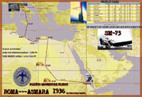 'Rome To Asmara 1936 Mission' complete flight plan.