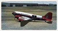 Screenshot of Royal Aircraft Establishment Douglas C-47 on the ground.