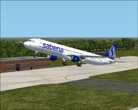 Screenshot of Sabena Airbus A321-211 taking off.