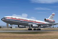Screenshot of Series 30 Demonstrator DC-10-30 on runway.