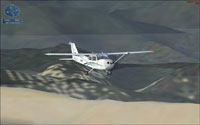 Screenshot of pilot taking the 'Short VFR Trip To Lake Chelan'.