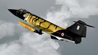 """Screenshot of Sim Skunk Works F-104S """"TigerMeet 88"""" in flight."""
