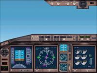 Singapore Boeing 777-300 main panel.