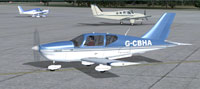 Screenshot of Socata TB-10 Tobago G-CBHA on the ground.
