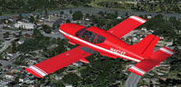 Screenshot of Socata TB-10 Tobago in flight.