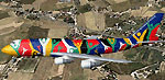 Screenshot of South African Boeing 747-300 in flight.